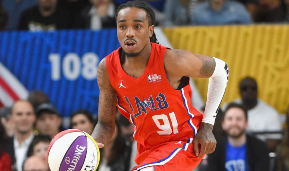 plays during the 2018 NBA All-Star Game Celebrity Game at Los Angeles Convention Center on February 16, 2018 in Los Angeles, California.