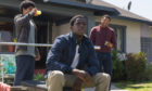 "SNOWFALL -- ""The World is Yours"" -- Season 2, Episode 7 (Airs Thursday, August 30, 10:00 pm ET/PT) -- Pictured: (l-r) Isaiah John as Leon Simmons, Damson Idris as Franklin Saint, Malcolm Mays as Kevin Hamilton. CR: Prashant Gupta/FX"