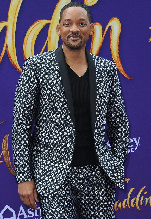 """LOS ANGELES, CA - MAY 21:  Will Smith arrives for the Premiere Of Disney's """"Aladdin""""  held at the El Capitan Theatre on May 21, 2019 in Los Angeles, California.  (Photo by Albert L. Ortega/Getty Images)"""