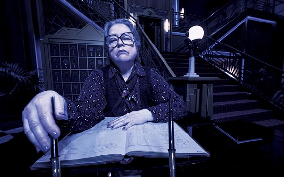 AMERICAN HORROR STORY: HOTEL -- Pictured: Kathy Bates as Iris. CR: Frank Ockenfels/FX