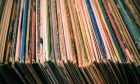 lot of records in sleeves full frame