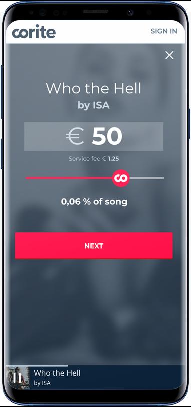 Corite slider example in phone 2019