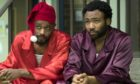 "ATLANTA Robbin' Season -- ""North of the Border"" -- Season Two, Episode 9 (Airs Thursday, April 26, 10:00 p.m. e/p) Pictured: (l-r) Lakeith Stanfield as Darius, Donald Glover as Earnest Marks. CR: Guy D'Alema/FX"